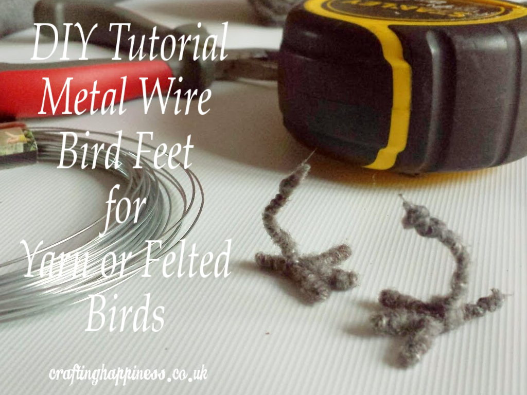 DIY Tutorial Metal Wire Bird Feet for Crafted Yarn or Felted Birds ...