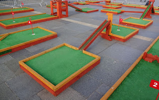 Crazy Golf course in Liverpool