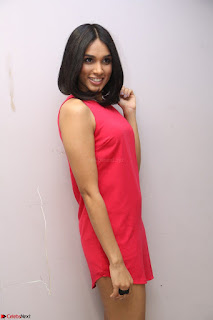 Spatika Surapaneni in Red Tight Dress at FBB Miss India 2017 finalists at Telangana auditions Feb 2017 (59).JPG