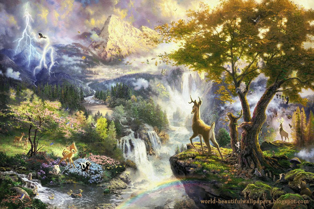 Beautiful Wallpapers: Nature Painting Wallpaper