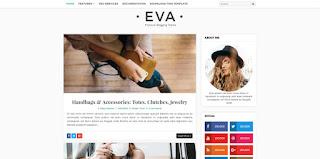 Eva Fashion blogger template 2017