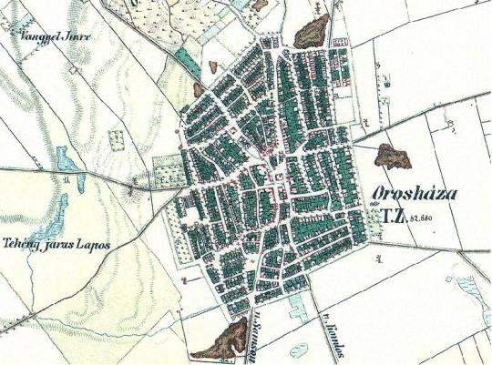 orosháza térkép Orosháza: Régi térkép