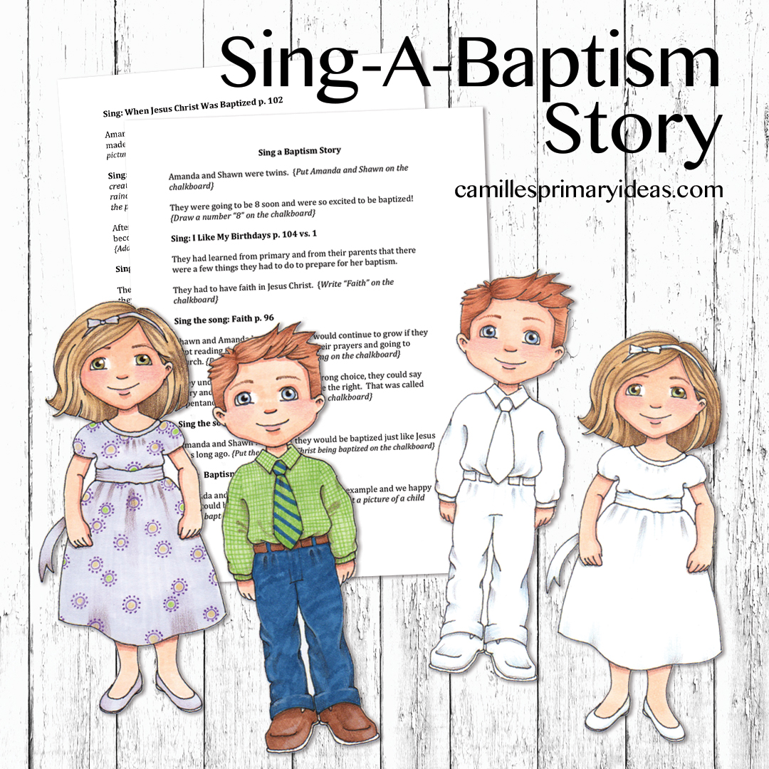 camille s primary ideas sing a baptism story