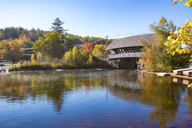 Ponte coperto sullo Squam river