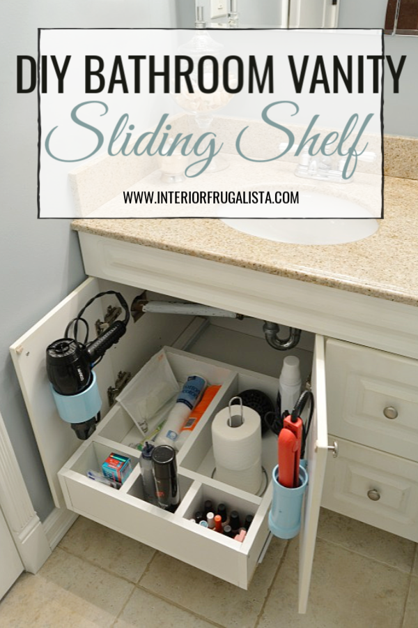 DIY Bathroom Vanity Sliding Shelf