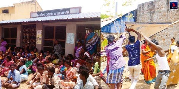 திருவாரூர் மாவட்டத்தில் பல இடங்களில் டாஸ்மாக்குக்கு எதிராக வலுத்த போராட்டம்