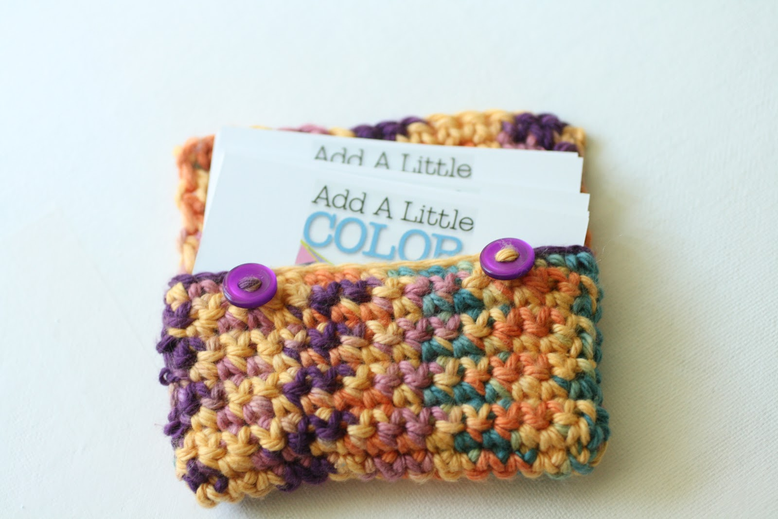 Sugar And Stitches Crocheted Business Card Holder