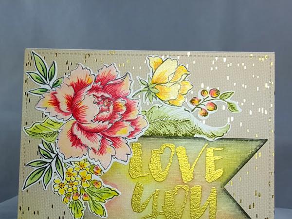 Altenew + WPlus9: Love You Card