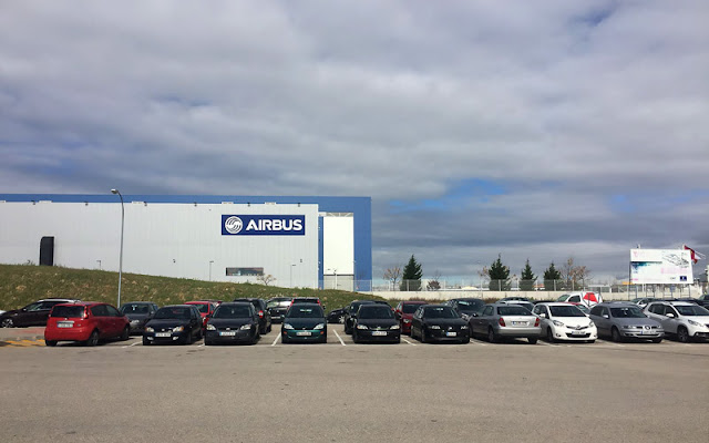 Instalaciones de Airbus, aparcamiento