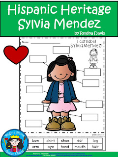 https://www.teacherspayteachers.com/Product/A-National-Hispanic-Heritage-Moth-Sylvia-Mendez-Labels-2781709