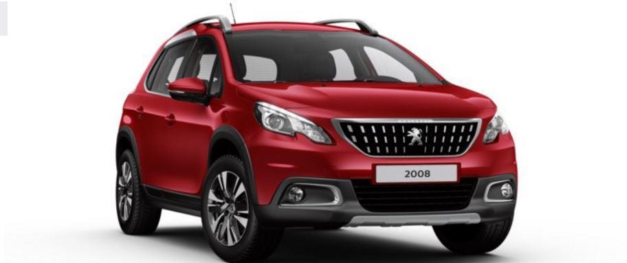 Colori Peugeot 2008 SUV rosso ultimate