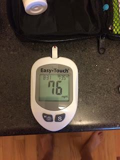 fasting blood glucose on glucometer