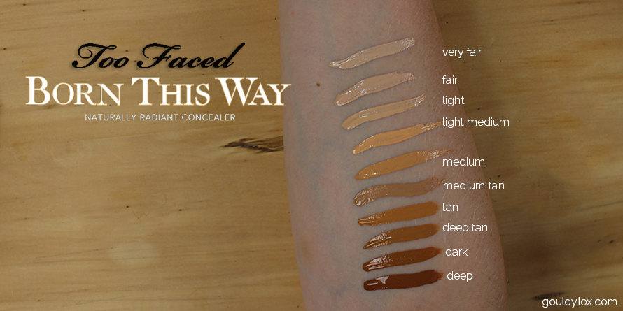 Swatches of the Too Faced NR Concealer
