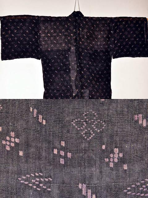 沖縄の染織物 #琉球絣 #琉球かすり #那覇型