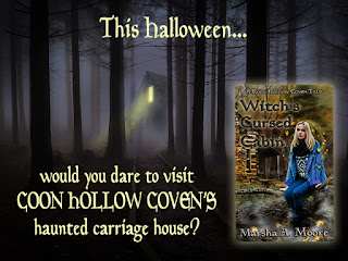 banner for Witch's Cursed Cabin by Marsha A. Moore