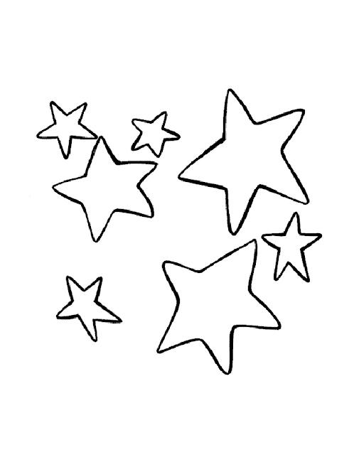 Gambar Mewarnai Bintang - 10