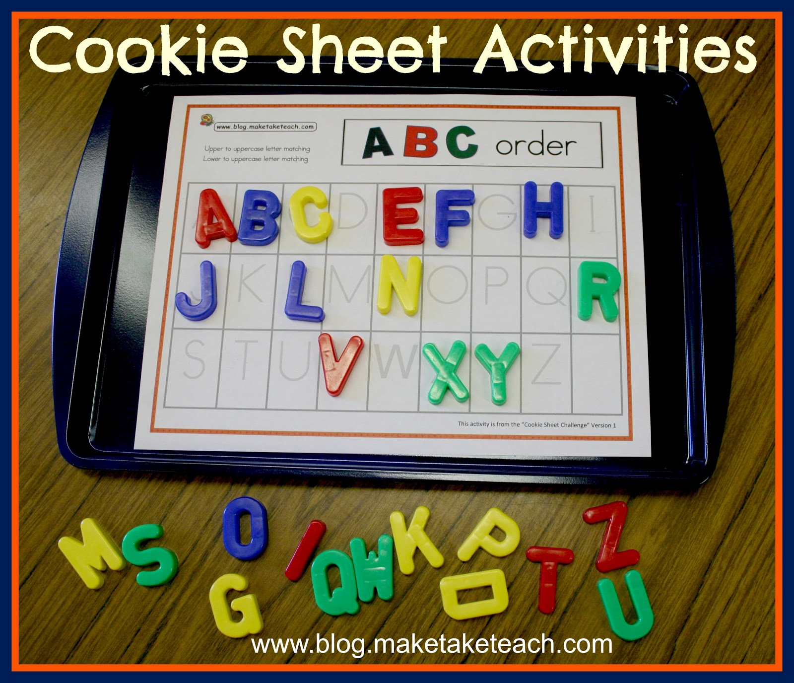 Cookie Sheet Activities Alphabetic Order
