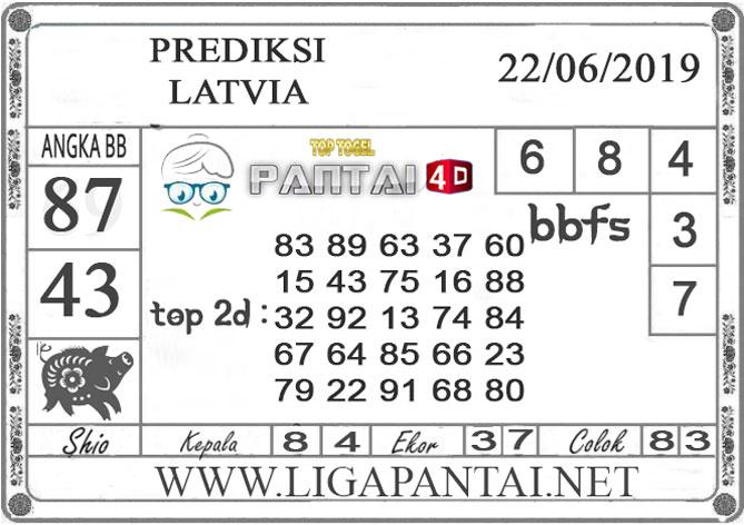 """PREDIKSI TOGEL """"LATVIA"""" PANTAI4D 22 JUNI 2019"""