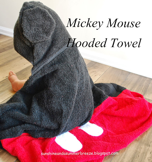 Sunshine And Summer Breeze Mickey Mouse Hooded Towel