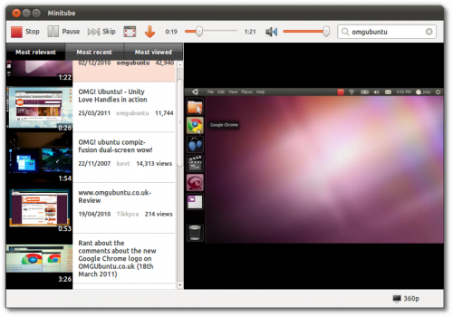World Of Linux: MiniTube for Linux