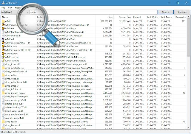 SwiftSearch 6.2.1 | Búsqueda ultrarápida de archivos en Windows