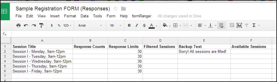 Hardcoded data (no formulas... yet).