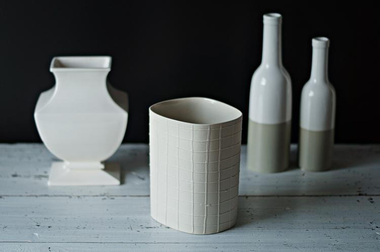 Bunt ist die Welt ... Vasen - Blog & Fotografie by it's me! - Keramikvasen in Cremetönen