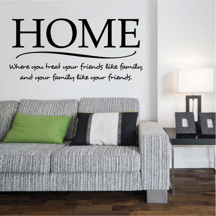 wq home wall sticker quot home sweet home wall sticker decals