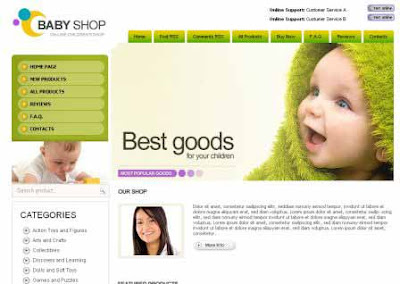 Baby Shop - Template Blog Toko Online