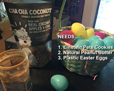 Einstein Pets cookiers, Easter eggs, peanut butter.