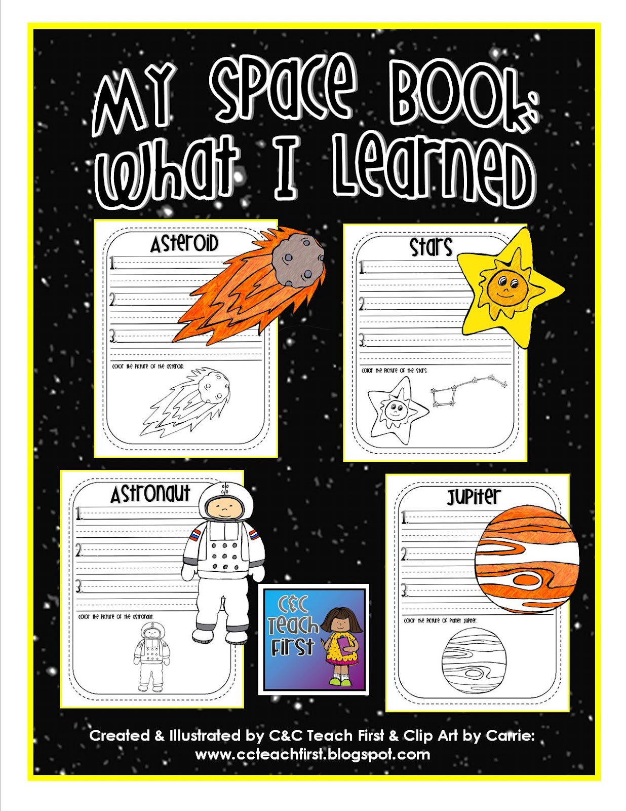 Clip Art By Carrie Teaching First My Space Book What I