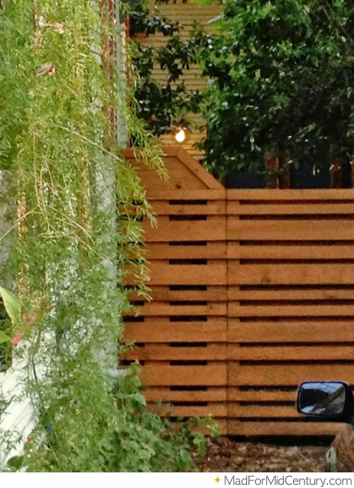 Mid Century Modern Fence Ideas From Austin