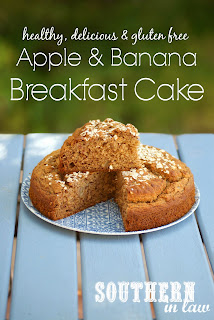 Healthy Apple Banana Breakfast Cake Recipe