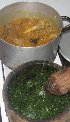 Cooking banga afang soup with step by step pictures 011
