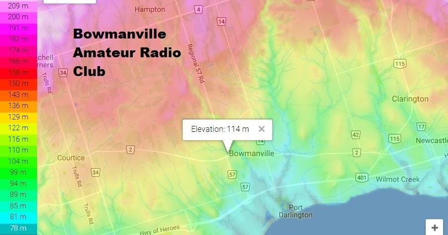 Bowmanville Amateur Radio Club Topographic Map Bowmanville