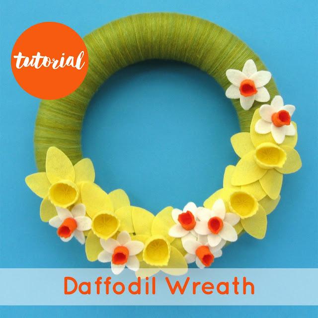 Felt Daffodils Wreath