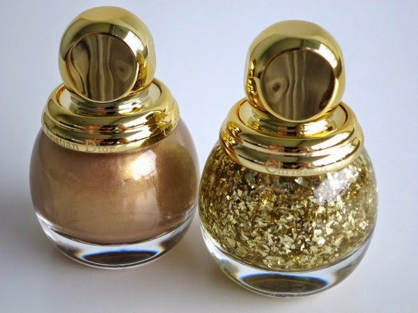 Diorific Vernis in 'Gold Equinoxe' and 'Golden Shock'