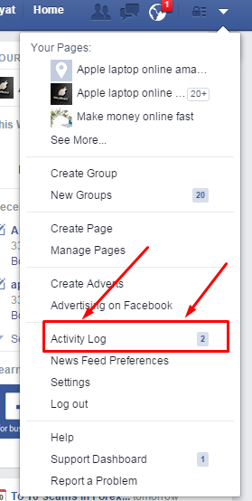 how to delete facebook search activity log | information