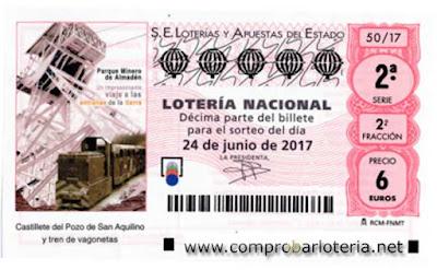 Sorteo de loteria nacional del sabado 24-06-2017