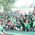 Kapolres Gresik Mengajak Puluhan Driver Go Jek Online, Gelorakan Millenial Road Safety Festival