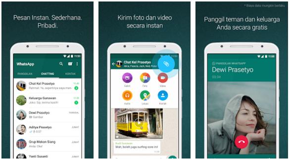 WhatsApp Messenger Versi2.16.207 Terbaru