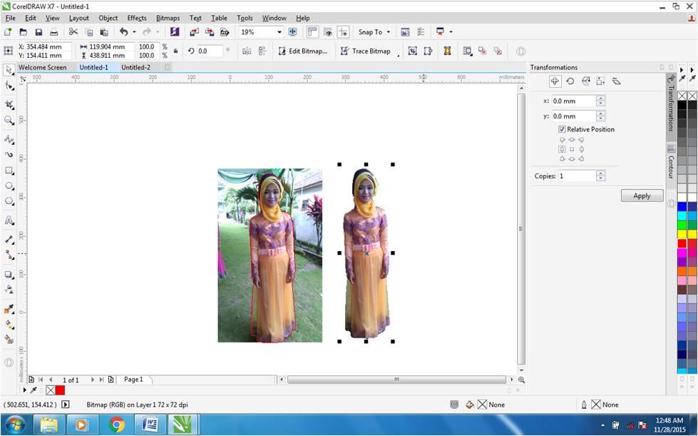 Cara Menyeleksi Menghilangkan Background Pada Foto Dengan Corel Draw