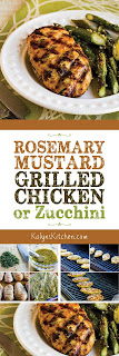 Rosemary Mustard Grilled Chicken found on KalynsKitchen.com