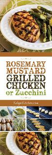 Rosemary Mustard Grilled Chicken found on KalynsKitchen.com