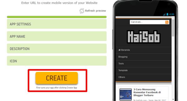 Cara Membuat Aplikasi Web/Blog Android 3