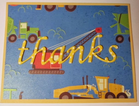 Carol Hartery's Creations: Cars and Trucks Thank You Cards