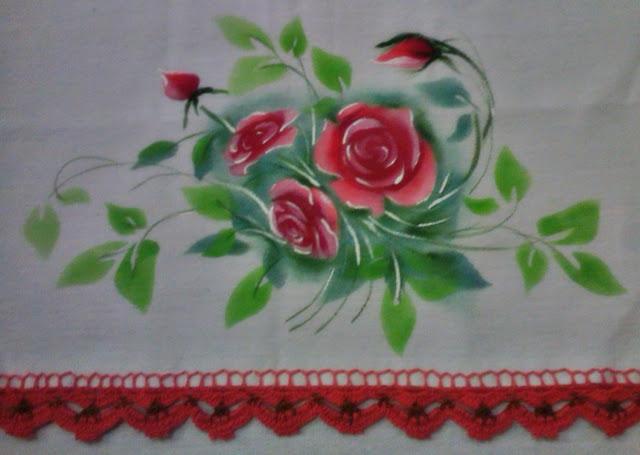 pintura com stencil em tecido