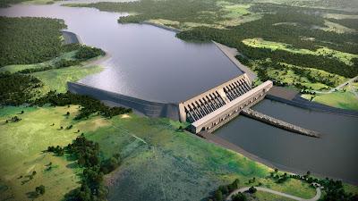 La represa de Belo Monte es una central hidroeléctrica ubicada en el río Xingú en el estado de Pará (norte de Brasil).