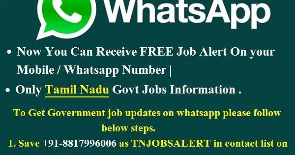 Get Free Latest Tamil Nadu Government Jobs Info On