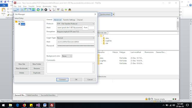 File-Zila Login to deploy web apllication- codefari